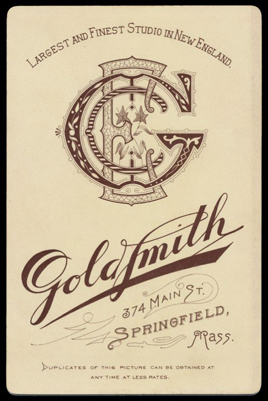 Goldsmith monogram Vintage Typography Design