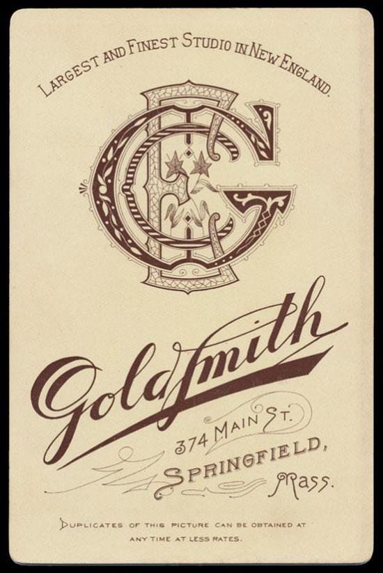 Goldsmith monogram Vintage Typography Design