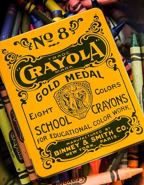 Crayola Vintage Typography Design
