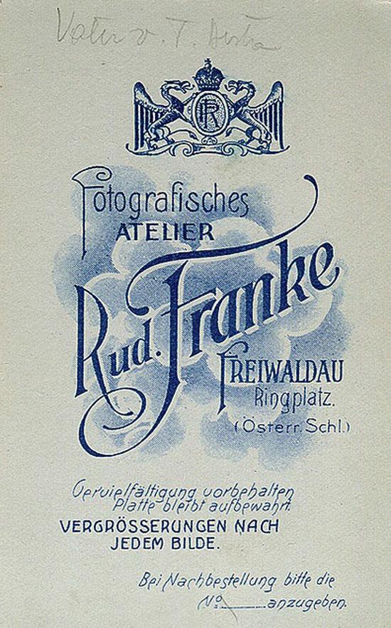 Rud. Franke Vintage Typography Design