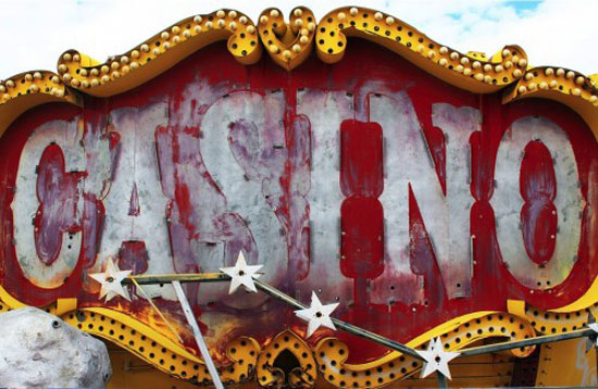 Casino Vintage Typography Design