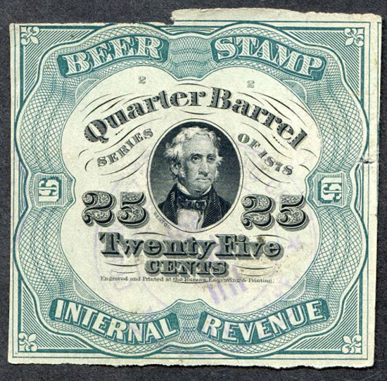 Beer stamp Vintage Typography Design