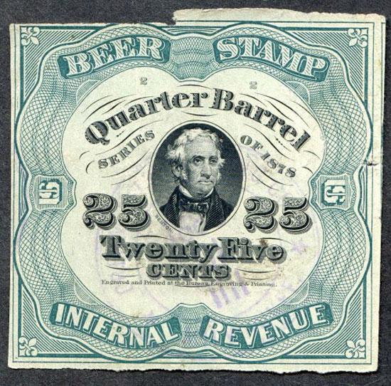Beer stamp Vintage Typography Design