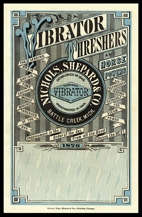Vibrator Trade Card Vintage Typography Design