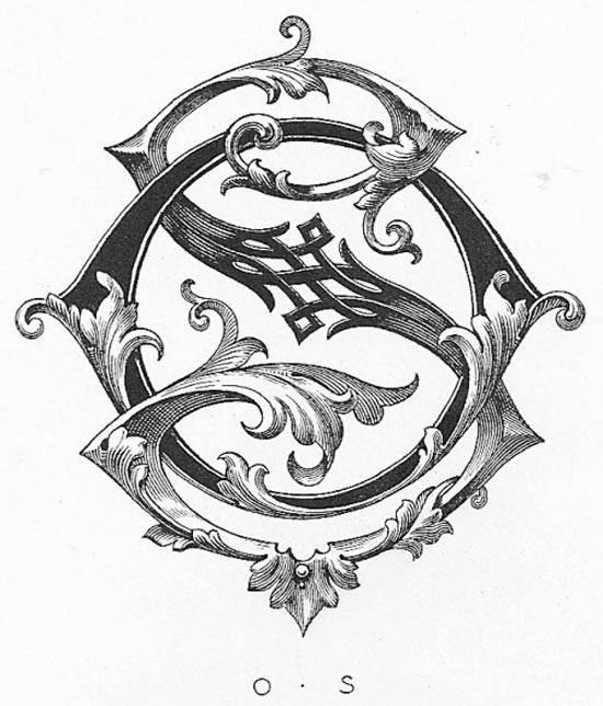 Vintage monogram Vintage Typography Design