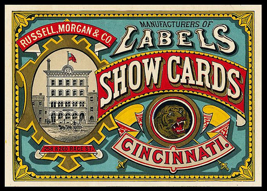 Show cards Vintage Typography Design