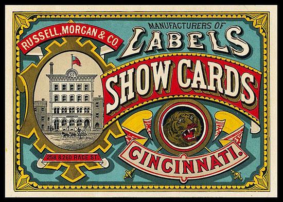 Show cards Vintage Typography Design