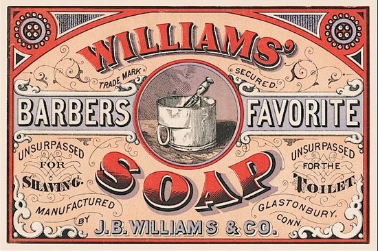 Williams' soap Vintage Typography Design