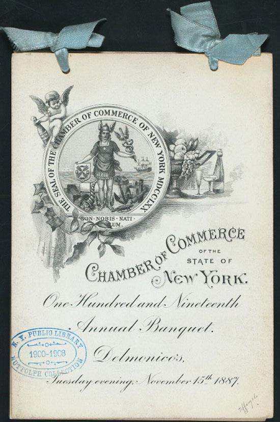 Chamber of Commerce Menu Vintage Typography Design
