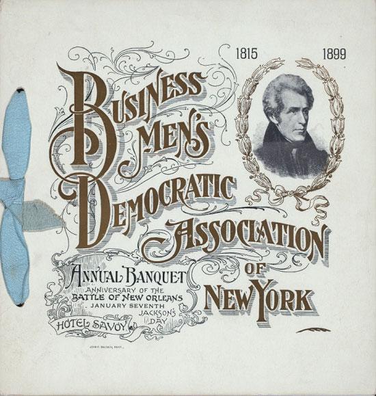 Business men's democratic association of New York Vintage Typography Design