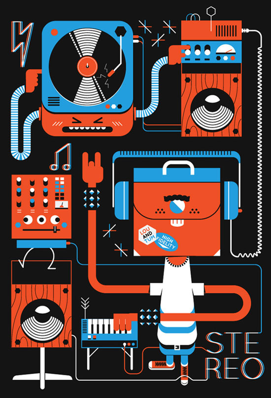 Joyful And Vivid Graphic Design Illustrations - 36 Examples