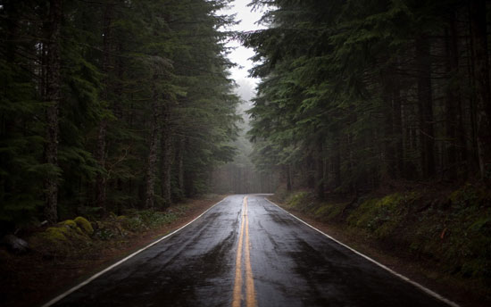 Wet road Photography Wallpaper