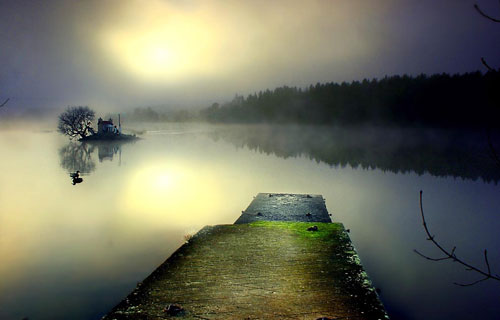 Pier in loch Shin - Relaxing Waterscapes Photography