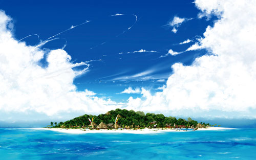 Desktop Vacation - Daytime wallpaper