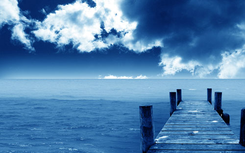 Blue Dock wallpaper