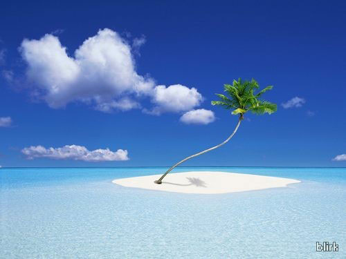 Desert island wallpaper