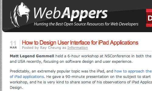 WebAppers : Blog Untuk Web Development Yang Perlu Anda Kunjungi