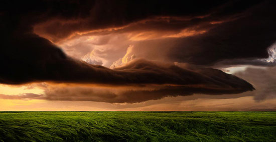 Storm clouds over the field Photography Inspiration