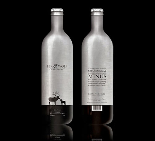 Elk and Wolf Chardonnay Package Design Inspiration