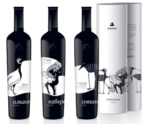 Karadag Wine Package Design Inspiration