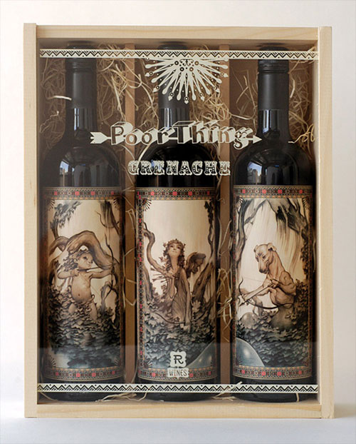 Southern Gothic Wine Package Design Inspiration