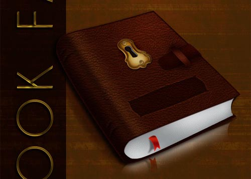 Create a Leatherback Book Icon in Photoshop Tutorial