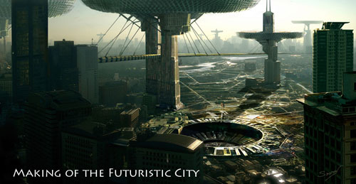 Making of The Futuristic City Photoshop Tutorial