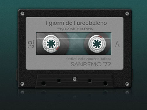 How to Create A Detailed Cassette Tape in Photoshop Tutorial