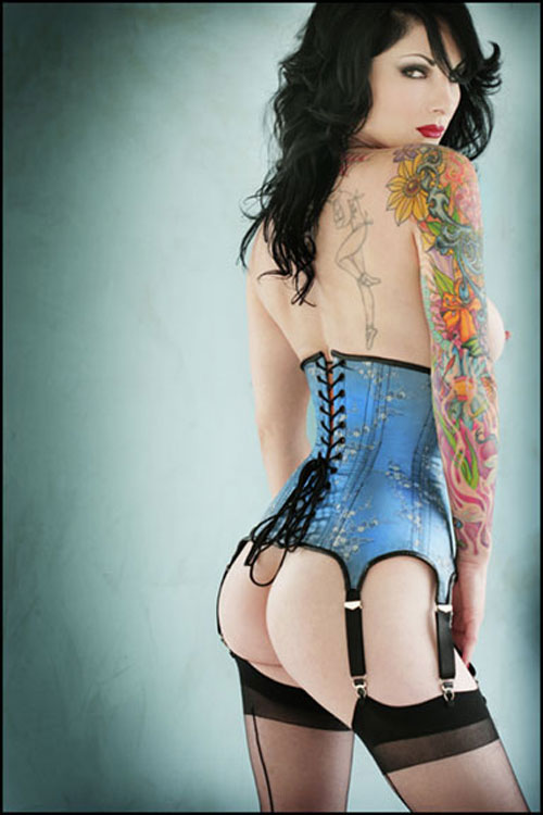 Courtney's corset woman photography