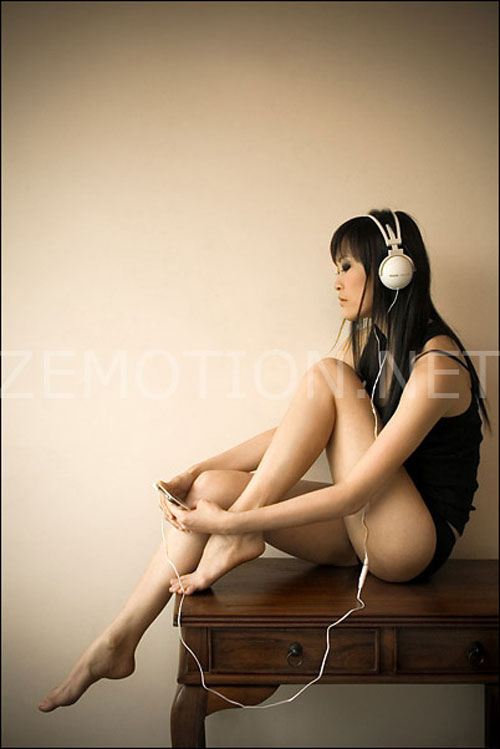 Headphones are Stylish woman photography