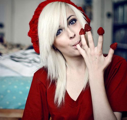 Yummy Raspberries woman photography