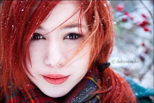 Winter child woman photography