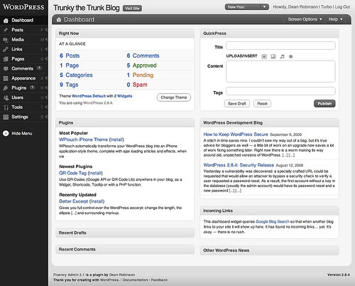 Fluency Admin wordpress plugin