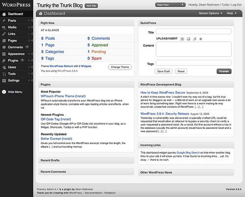 Fluency Admin wordpress plugin
