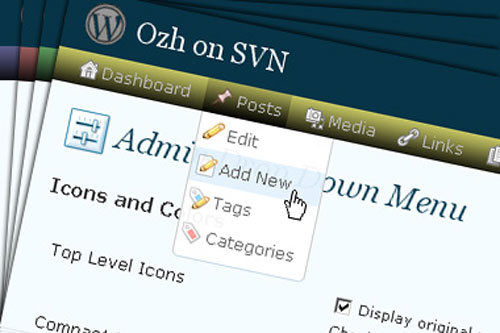 Ozh' Admin Drop Down Menu WordPress Plugin