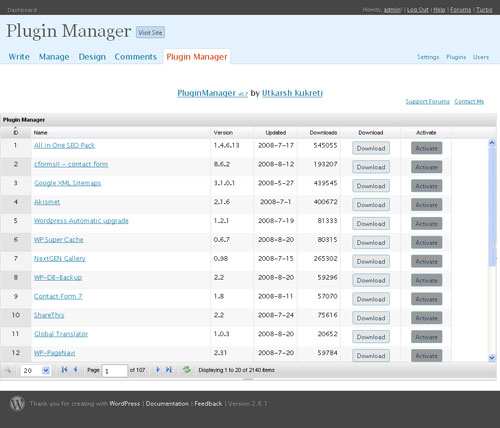 Plugin Manager WordPress Plugin