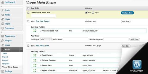 Verve Meta Boxes WordPress Plugin