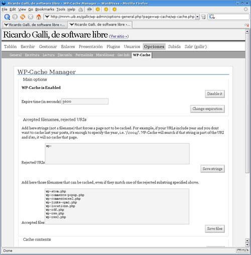 WP Cache WordPress Plugin
