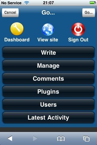 WPhone WordPress Plugin