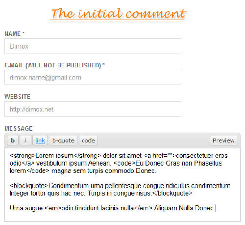 jquery comment wordpress plugin
