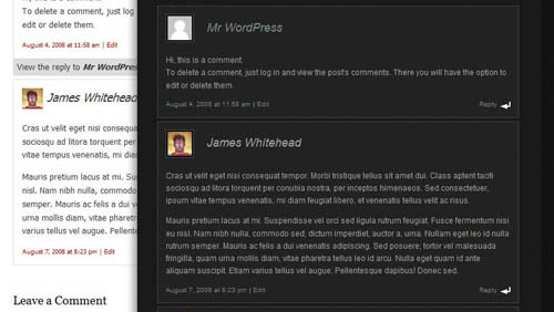 sepctacula threaded comments wordpress plugin