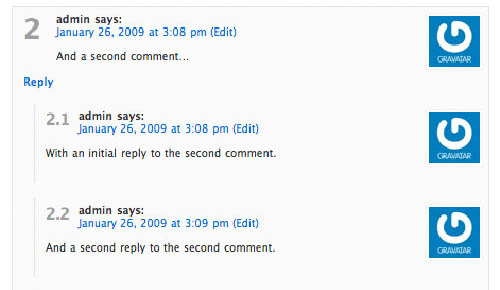 threaded comment wordpress plugin