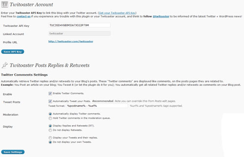 twitoaster wordpress plugin