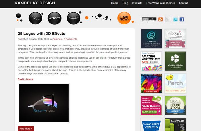 vandelaydesign.com Web Design Blog