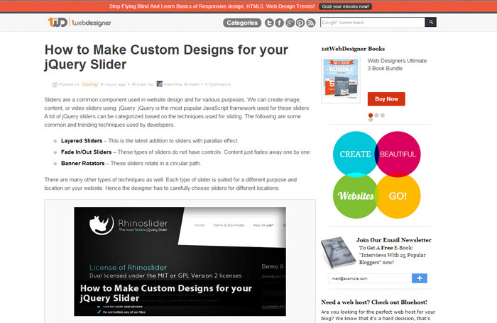 1stwebdesigner.com Web Design Blog