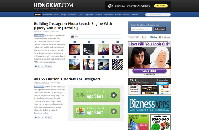 hongkiat.com Web Design Blog