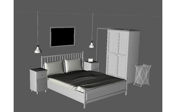 free 3d furniture models available for download. Black Bedroom Furniture Sets. Home Design Ideas