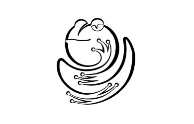 One Line Frog logo