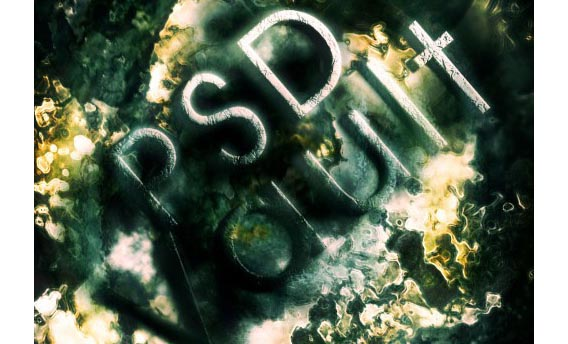 Design a Grunge-Style Abstract Typography with Rusted Metal Texture in Photoshop