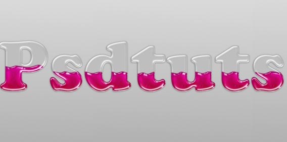 Create Liquid Filled Glass Text in Photoshop
